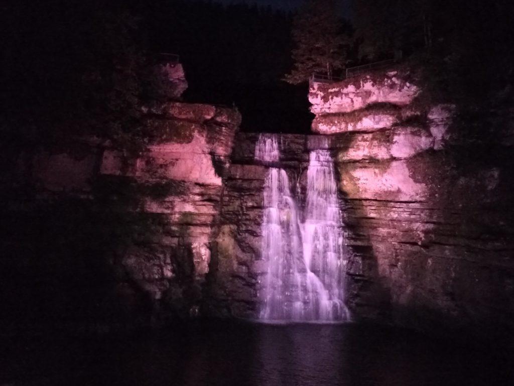 Illumination du Saut du Doubs à Villers-le-Lac