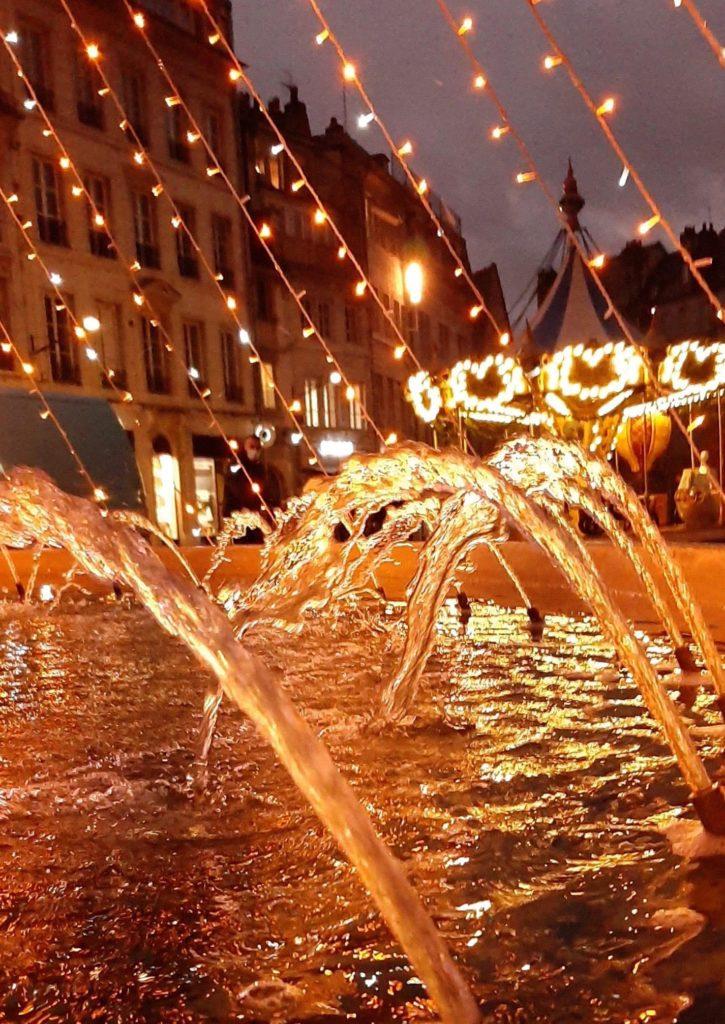Eclairages de Noël Place de la Révolution à Besançon